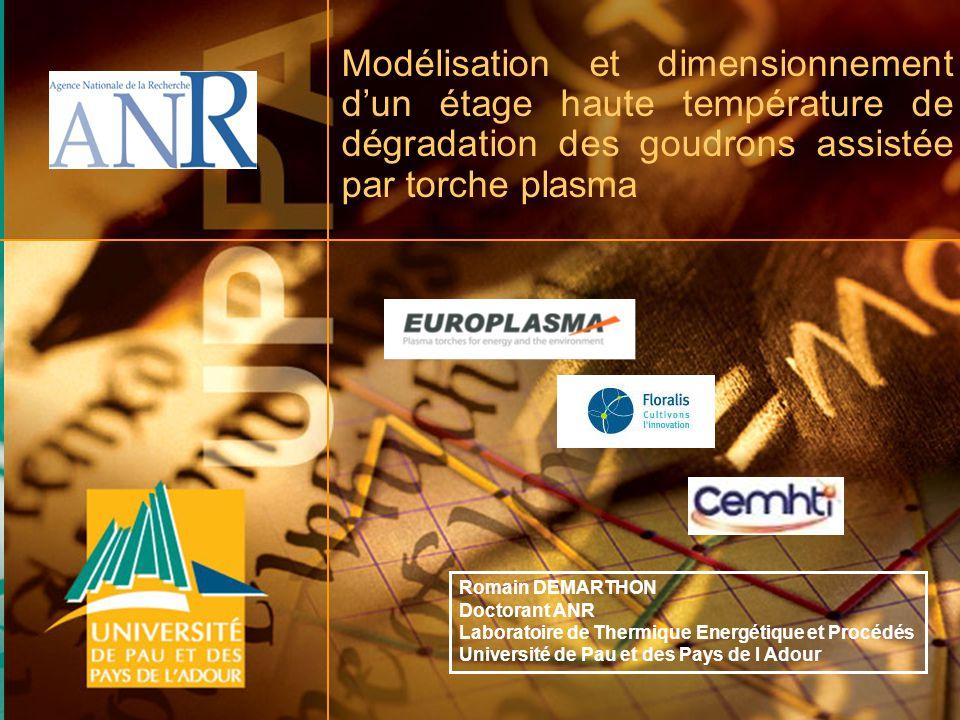 CFGL 2011 Strasbourg 22, 23 et 24 novembre 2011 1 Modélisation et dimensionnement dun étage haute température de dégradation des goudrons assistée par