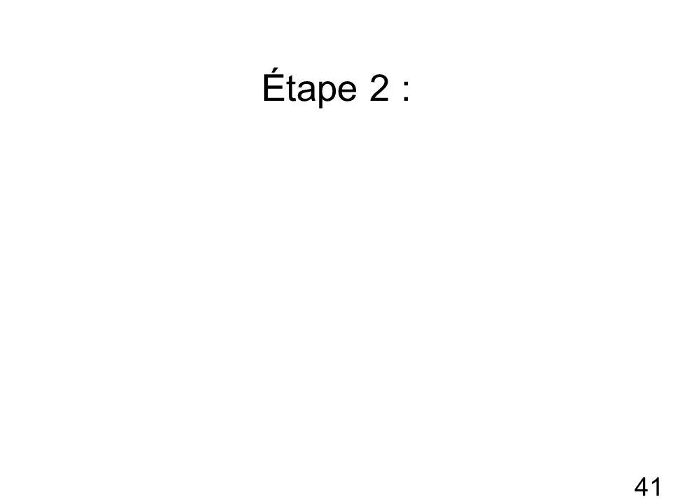 41 Étape 2 :