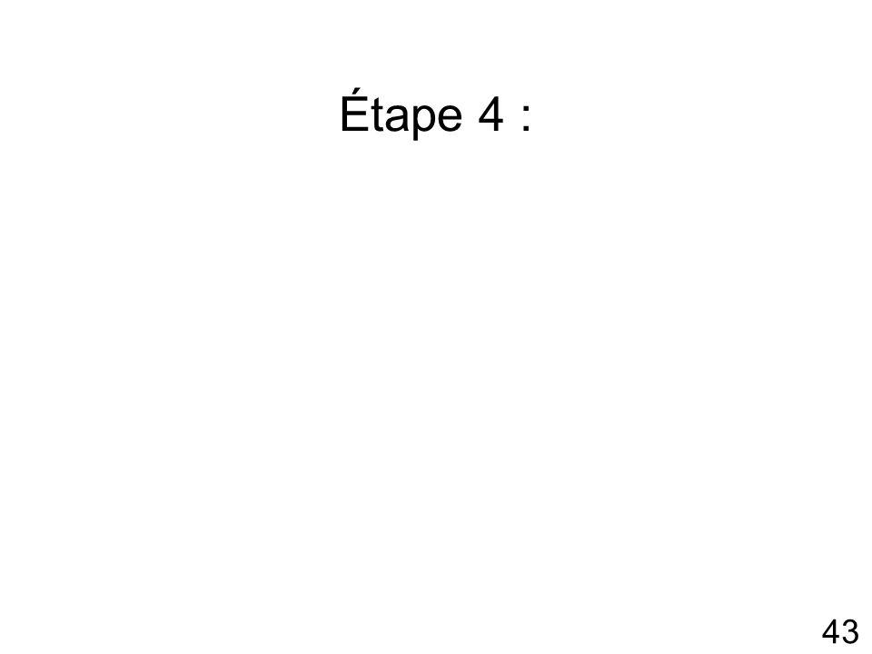 43 Étape 4 :