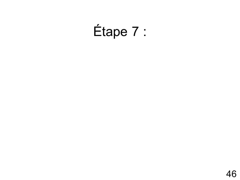 46 Étape 7 :
