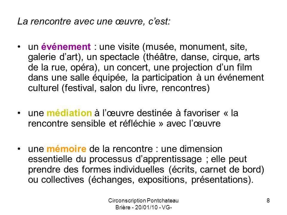 Circonscription Pontchateau Brière - 20/01/10 - VG- 9 Utiliser des ressources inexploitées