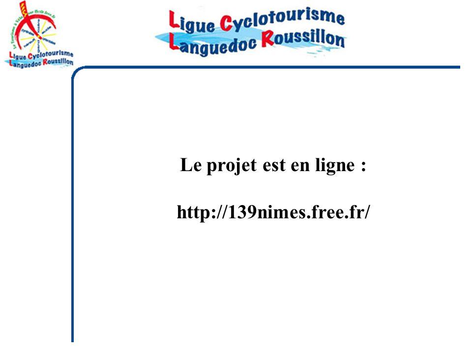 Le projet est en ligne : http://139nimes.free.fr/