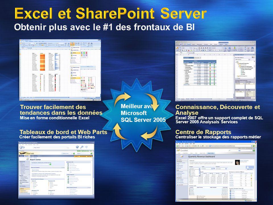 Meilleur avec Microsoft SQL Server 2005 Trouver facilement des tendances dans les données Mise en forme conditionnelle Excel Connaissance, Découverte