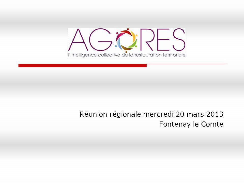 Réunion régionale mercredi 20 mars 2013 Fontenay le Comte