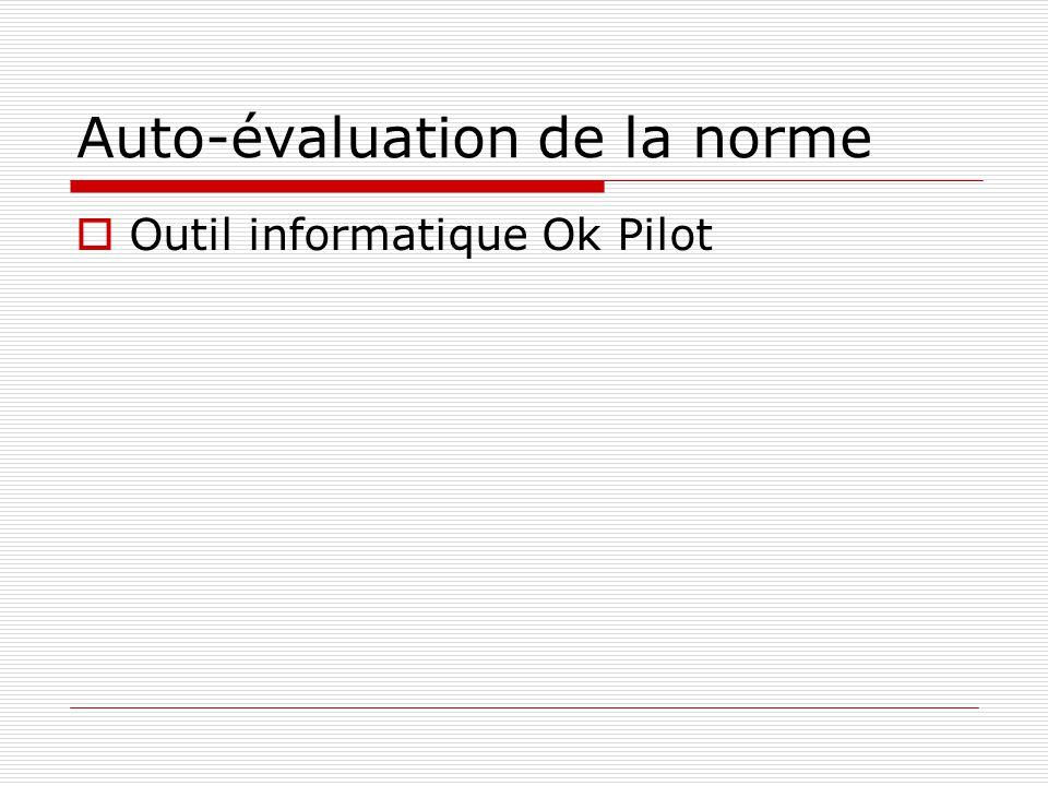 Auto-évaluation de la norme Outil informatique Ok Pilot
