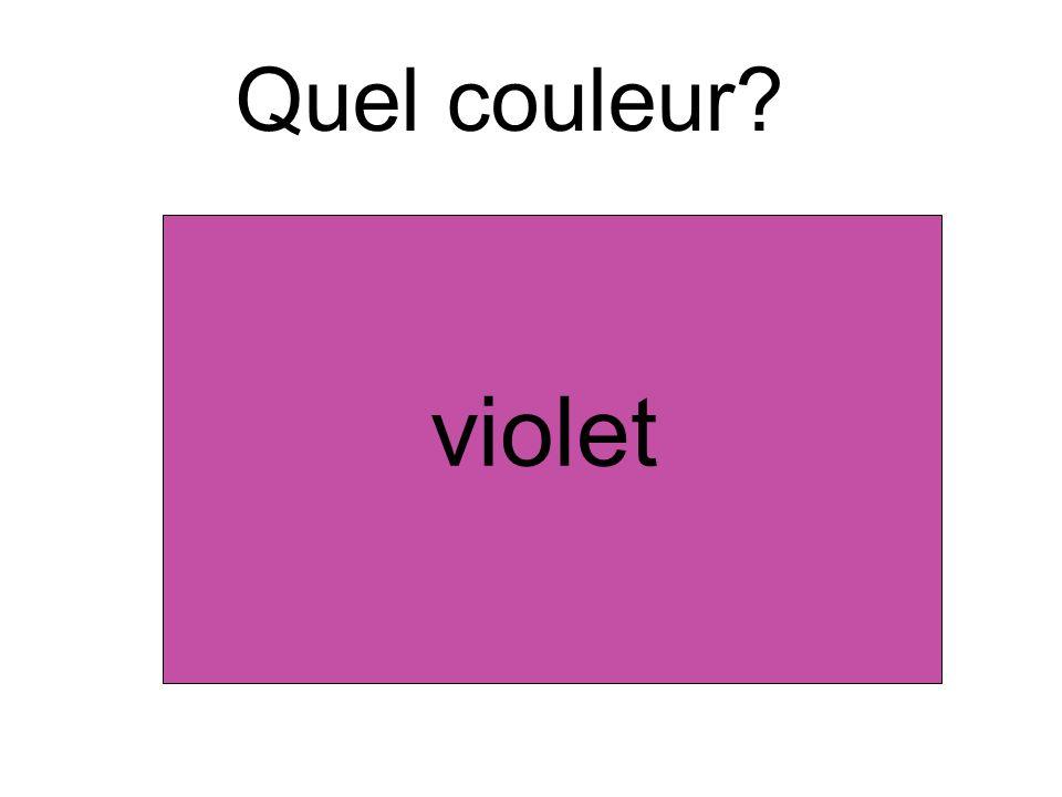 Quel couleur? violet