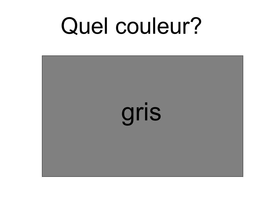 Quel couleur? gris