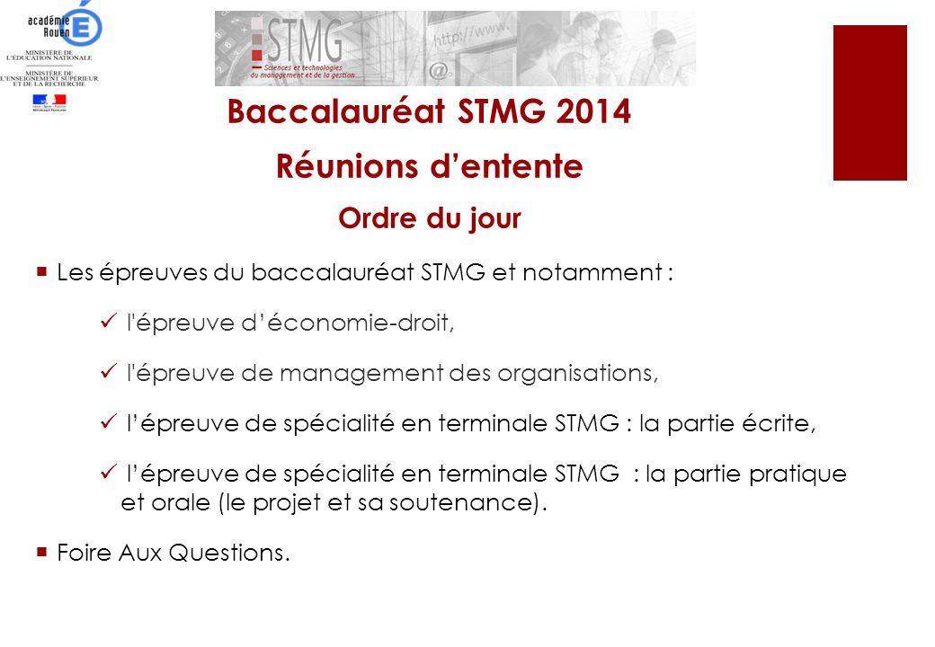 Les épreuves du baccalauréat STMG et notamment : l'épreuve déconomie-droit, l'épreuve de management des organisations, lépreuve de spécialité en termi