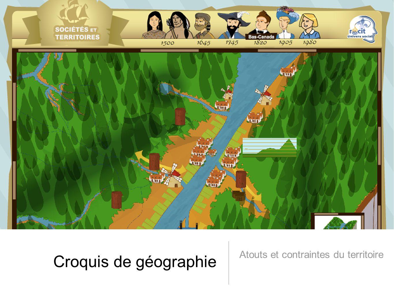 Croquis de géographie Atouts et contraintes du territoire