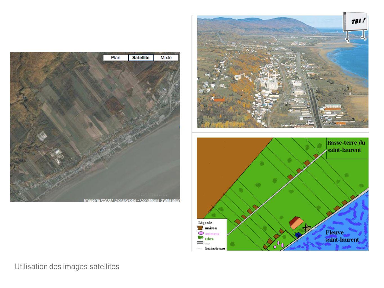 Utilisation des images satellites