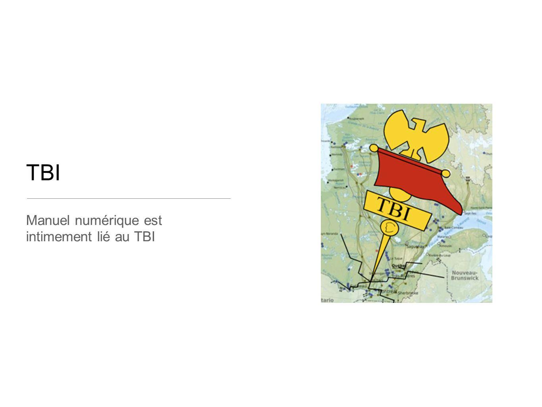 TBI Manuel numérique est intimement lié au TBI