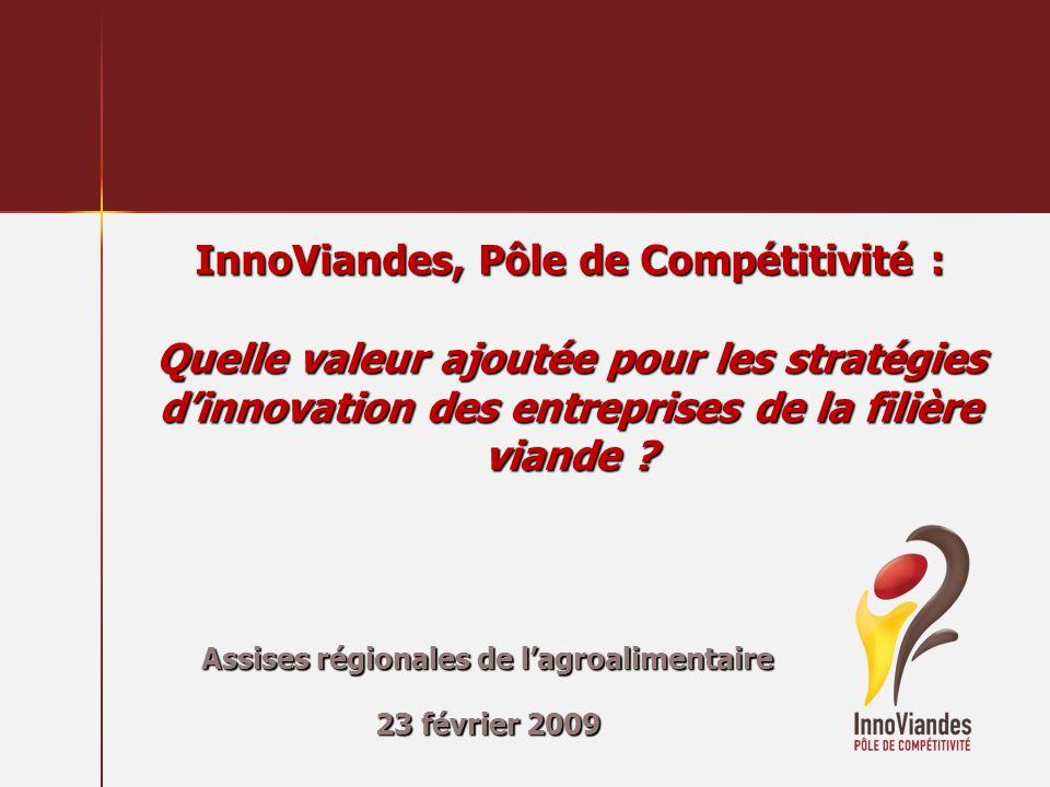 InnoViandes, Pôle de Compétitivité : Quelle valeur ajoutée pour les stratégies dinnovation des entreprises de la filière viande ? Assises régionales d