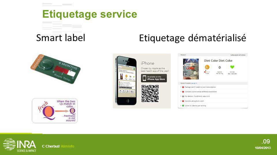 .010 Etiquetage dématérialisé Education .e.g. diététique, DLC et DLUO, etc.