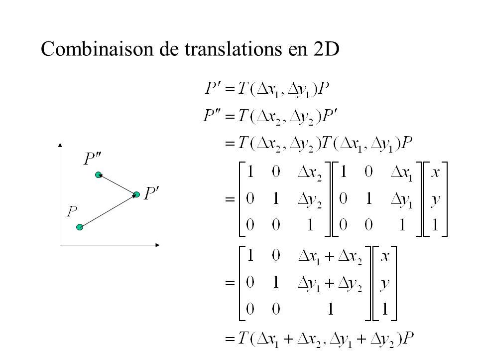 Combinaison de translations en 2D