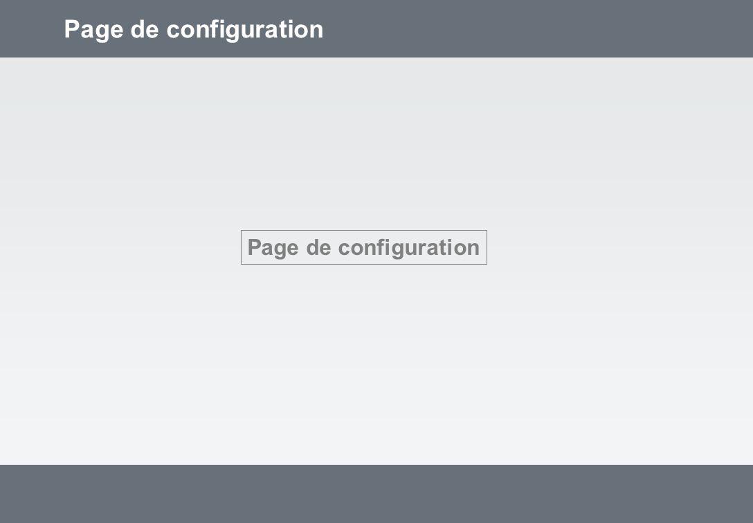 Page de configuration