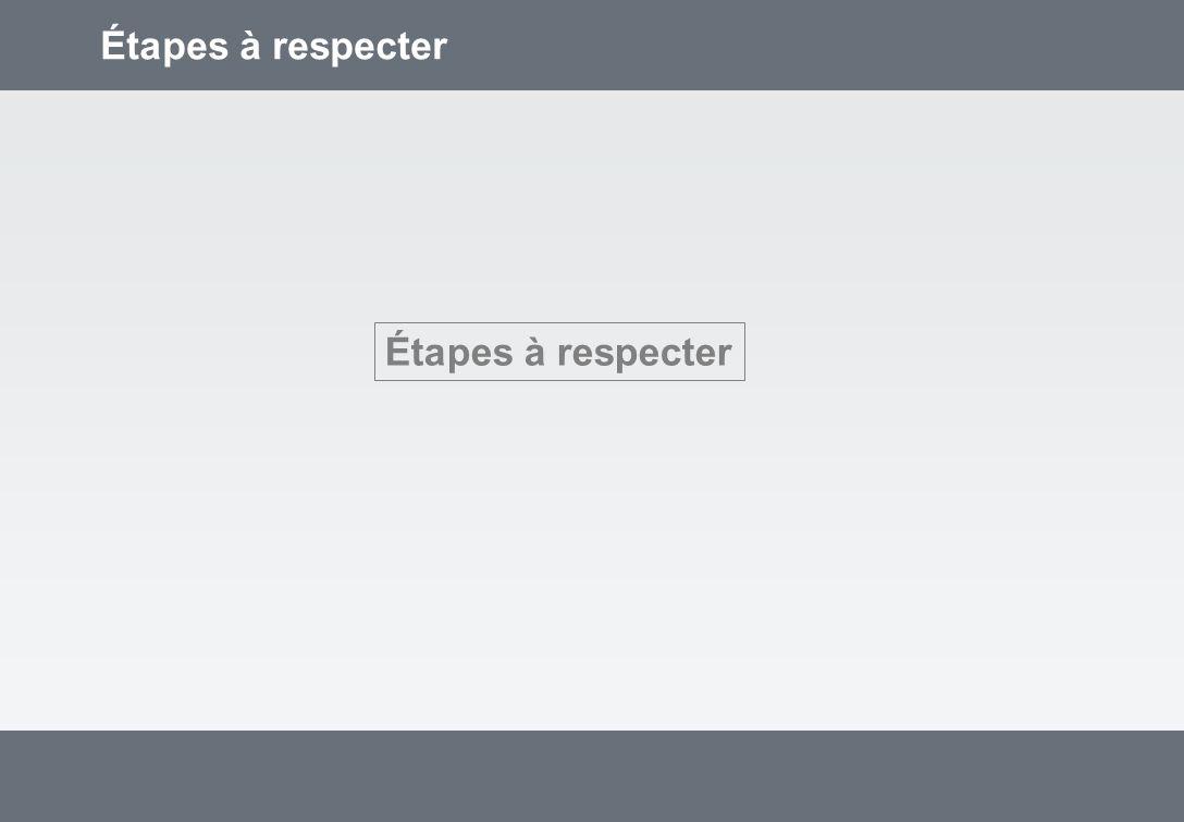 Étapes à respecter
