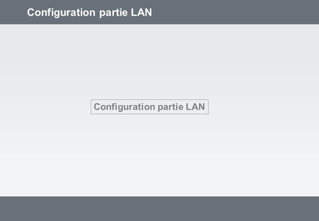 Configuration partie LAN