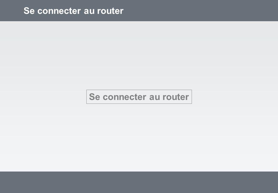 Adresser le router Adresse du routeur: http://192.168.1.1