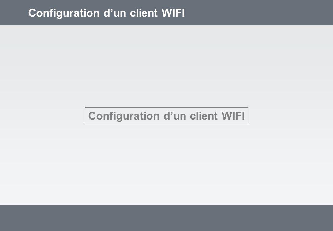 Configuration dun client WIFI