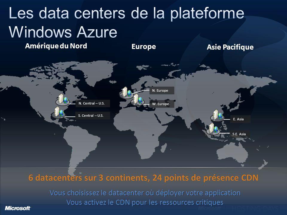 6 Microsoft Confidential Amérique du NordAmérique du Nord Europe Asie PacifiqueAsie Pacifique S.