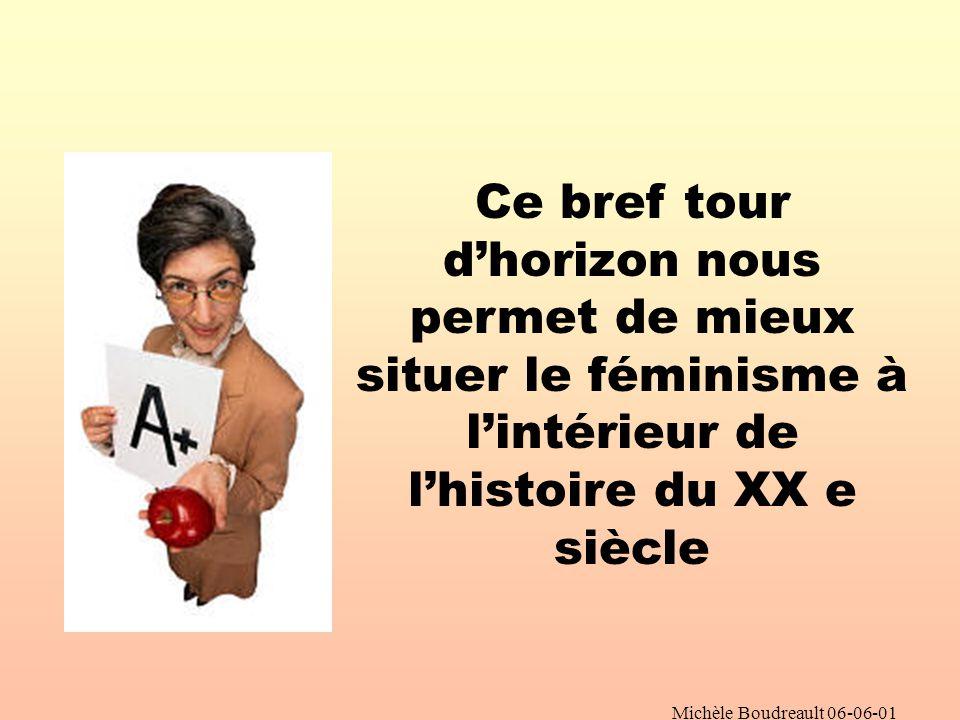 Michèle Boudreault 06-06-01 Quest-ce qui explique le retard du Québec .