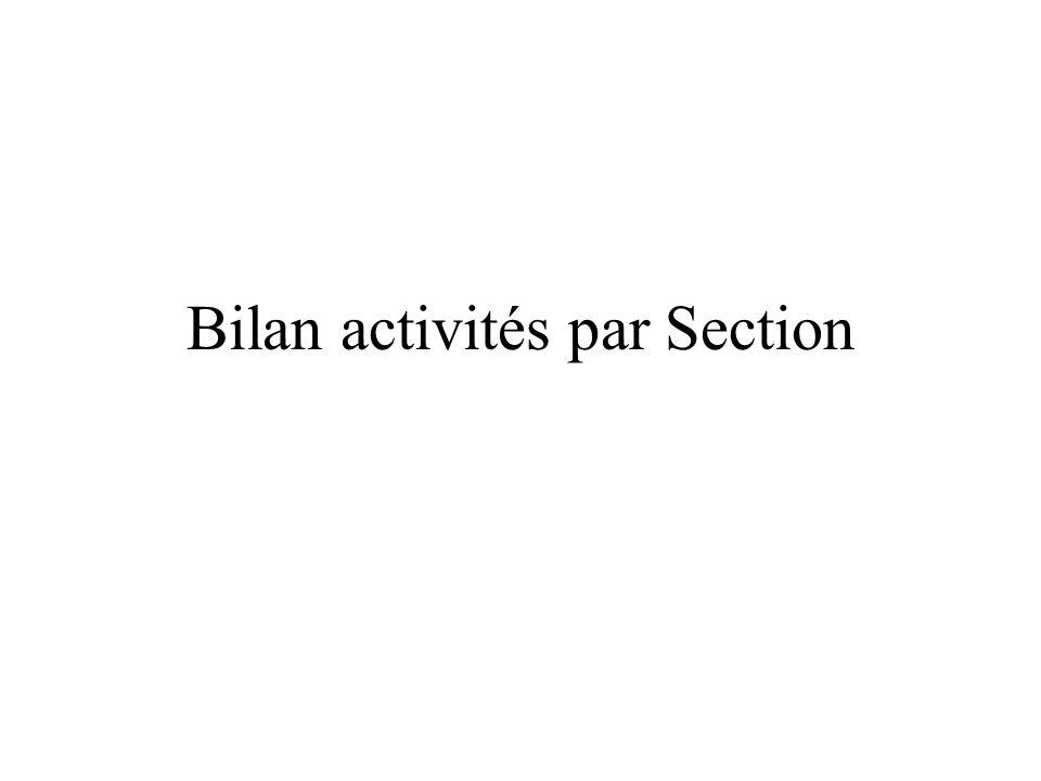 Bilan activités par Section
