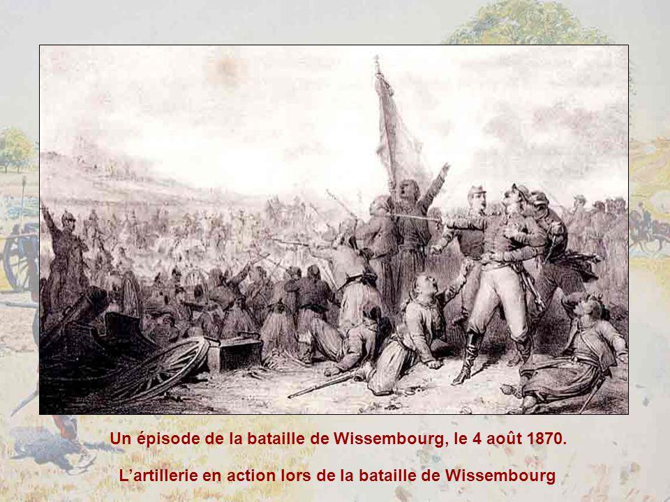 Lartillerie en action lors de la bataille de Wissembourg Un épisode de la bataille de Wissembourg, le 4 août 1870.