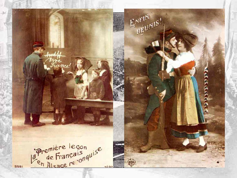Affiche de Paul Kauffmann, éditée vers 1919, après le retour de lAlsace-Lorraine à la France.