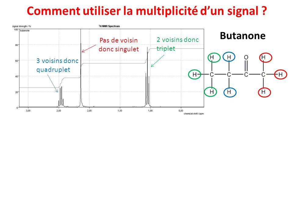 Propanoate de méthyle Comment utiliser la multiplicité dun signal .