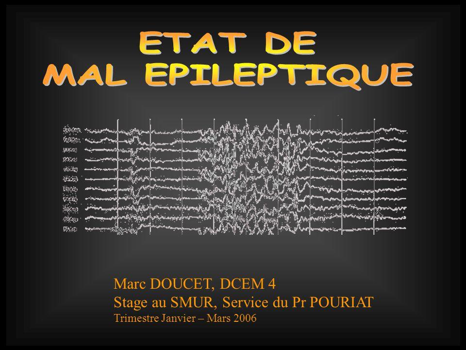 Marc DOUCET, DCEM 4 Stage au SMUR, Service du Pr POURIAT Trimestre Janvier – Mars 2006
