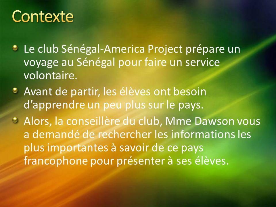 Le club Sénégal-America Project prépare un voyage au Sénégal pour faire un service volontaire.