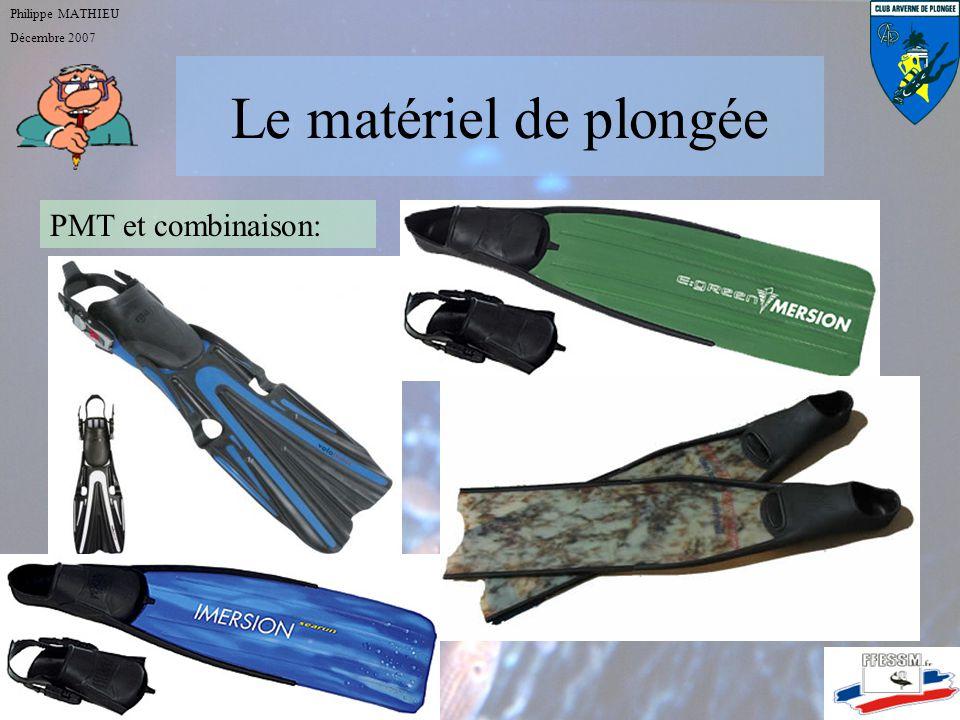 Le matériel de plongée Philippe MATHIEU Décembre 2007 PMT et combinaison Le scaphandre autonome Les instruments de mesure Les éléments de sécurité cei