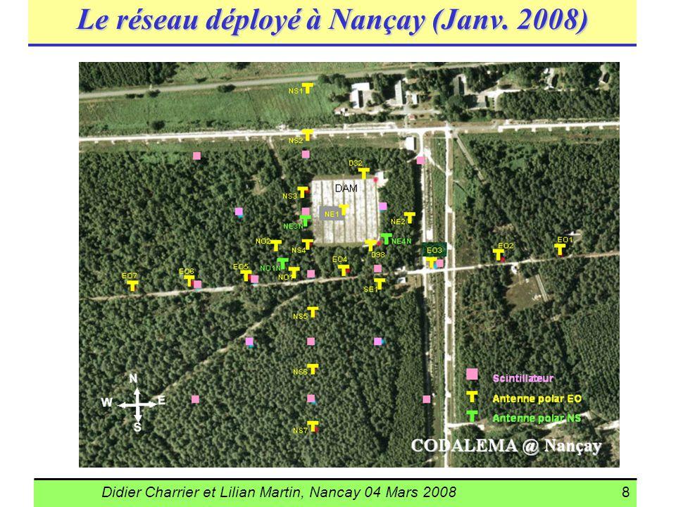 Didier Charrier et Lilian Martin, Nancay 04 Mars 20088 Le réseau déployé à Nançay (Janv. 2008)