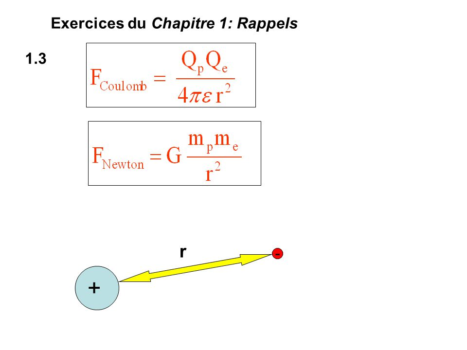 1.3 Exercices du Chapitre 1: Rappels + - r