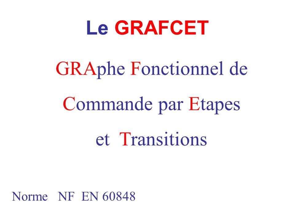Le GRAFCET GRAphe Fonctionnel de Commande par Etapes et Transitions Norme NF EN 60848