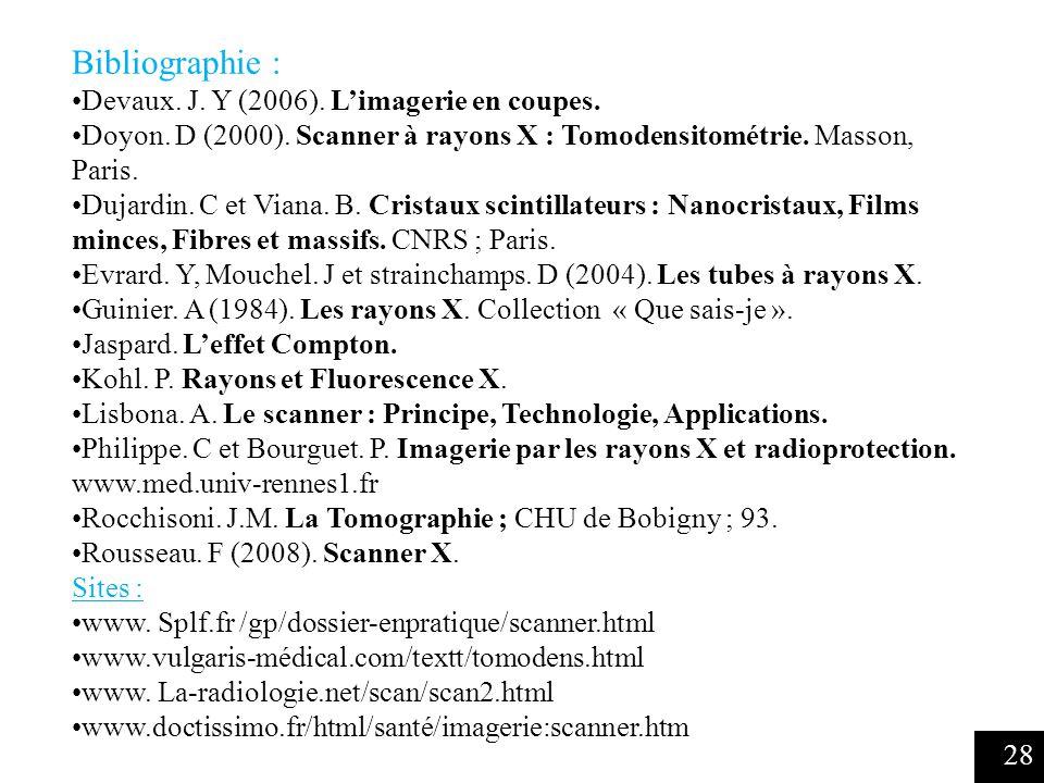 28 Bibliographie : Devaux.J. Y (2006). Limagerie en coupes.