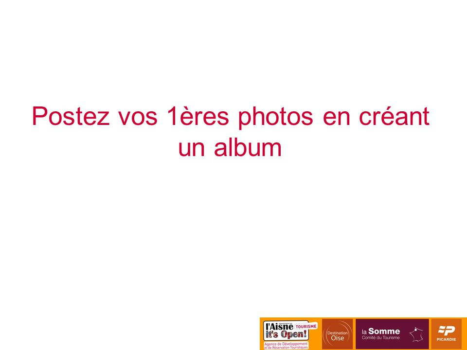 Postez vos 1ères photos en créant un album