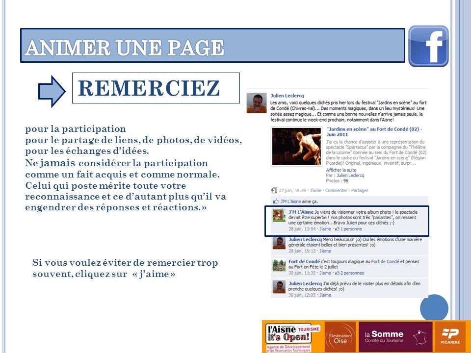 REMERCIEZ pour la participation pour le partage de liens, de photos, de vidéos, pour les échanges didées.