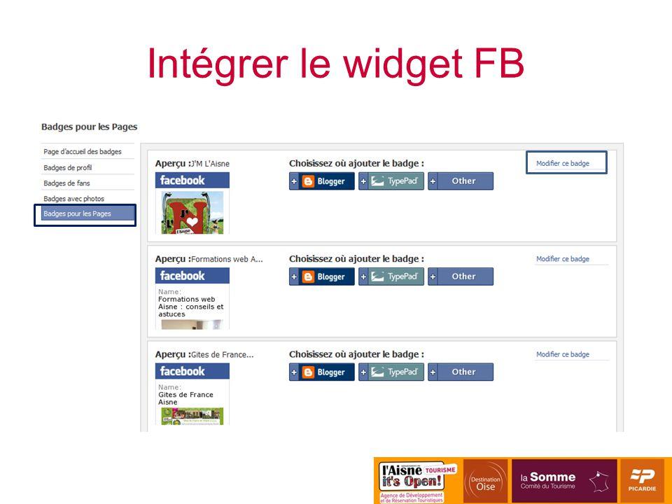 Intégrer le widget FB