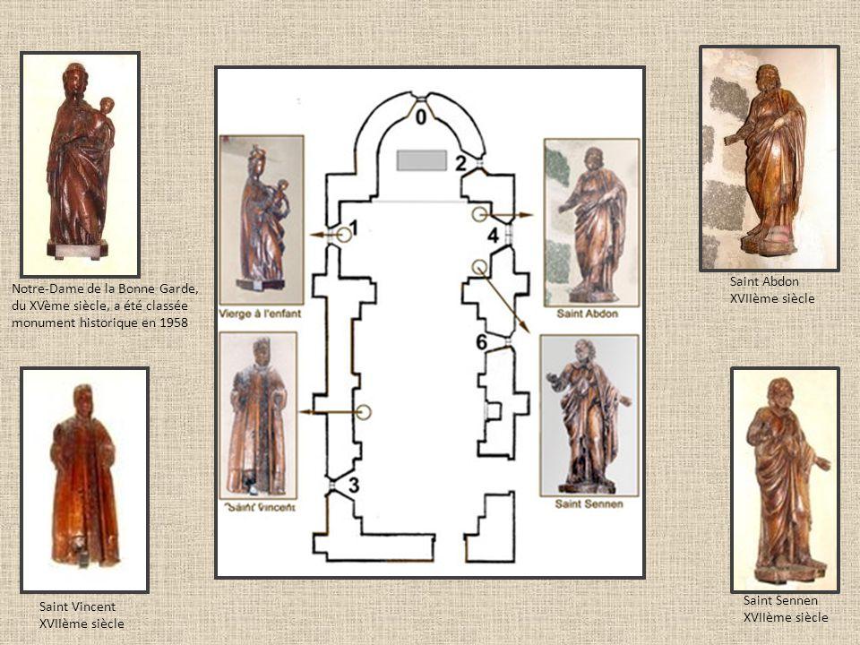 Notre-Dame de la Bonne Garde, du XVème siècle, a été classée monument historique en 1958 Saint Vincent XVIIème siècle Saint Sennen XVIIème siècle Sain