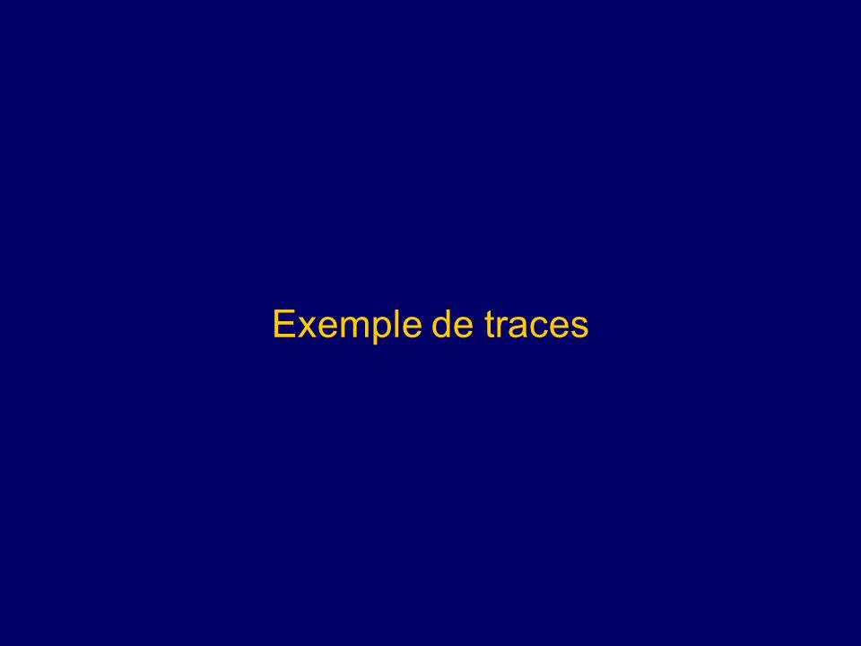 Exemple de traces