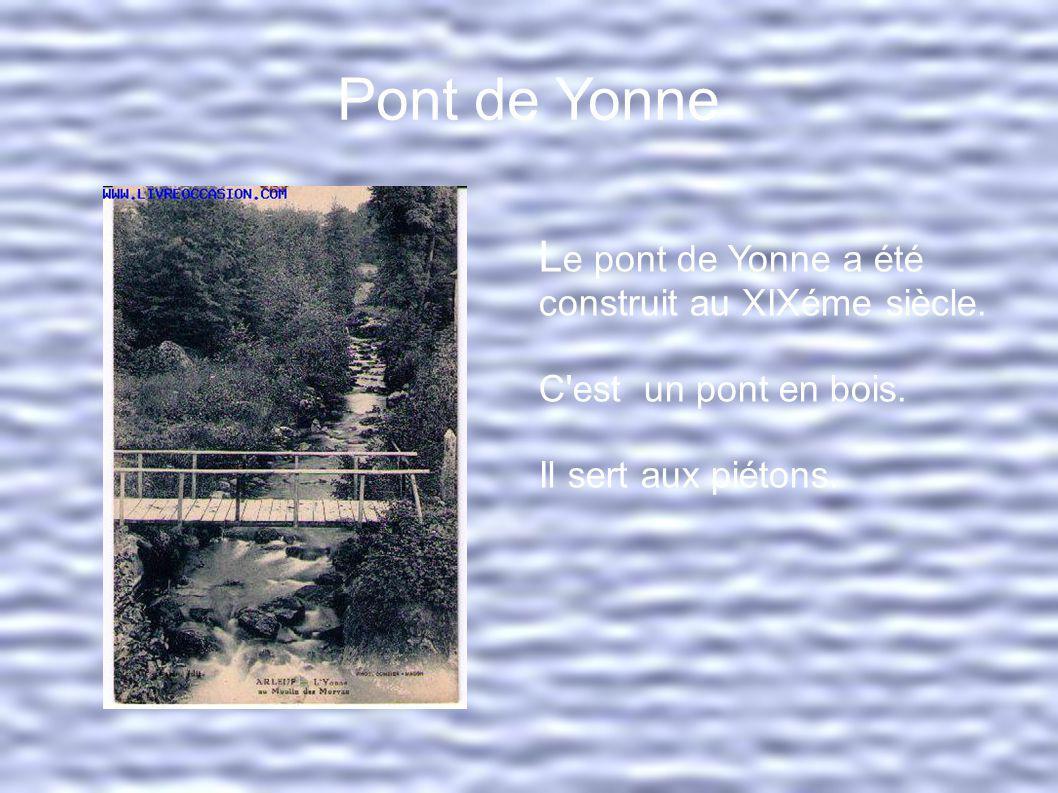 Pont les Settons Le pont des Settons est destiné aux piétons.