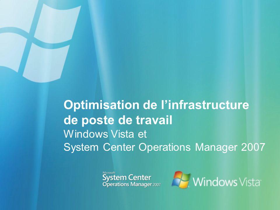 Optimisation de linfrastructure de poste de travail Windows Vista et System Center Operations Manager 2007