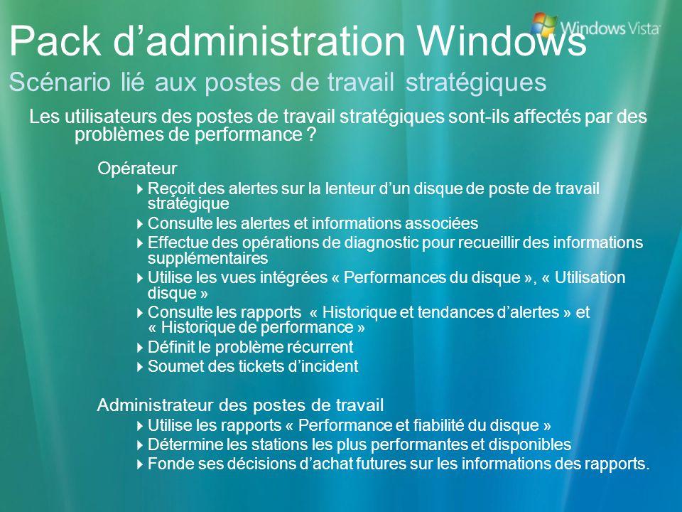 Pack dadministration Windows Scénario lié aux postes de travail stratégiques Les utilisateurs des postes de travail stratégiques sont-ils affectés par