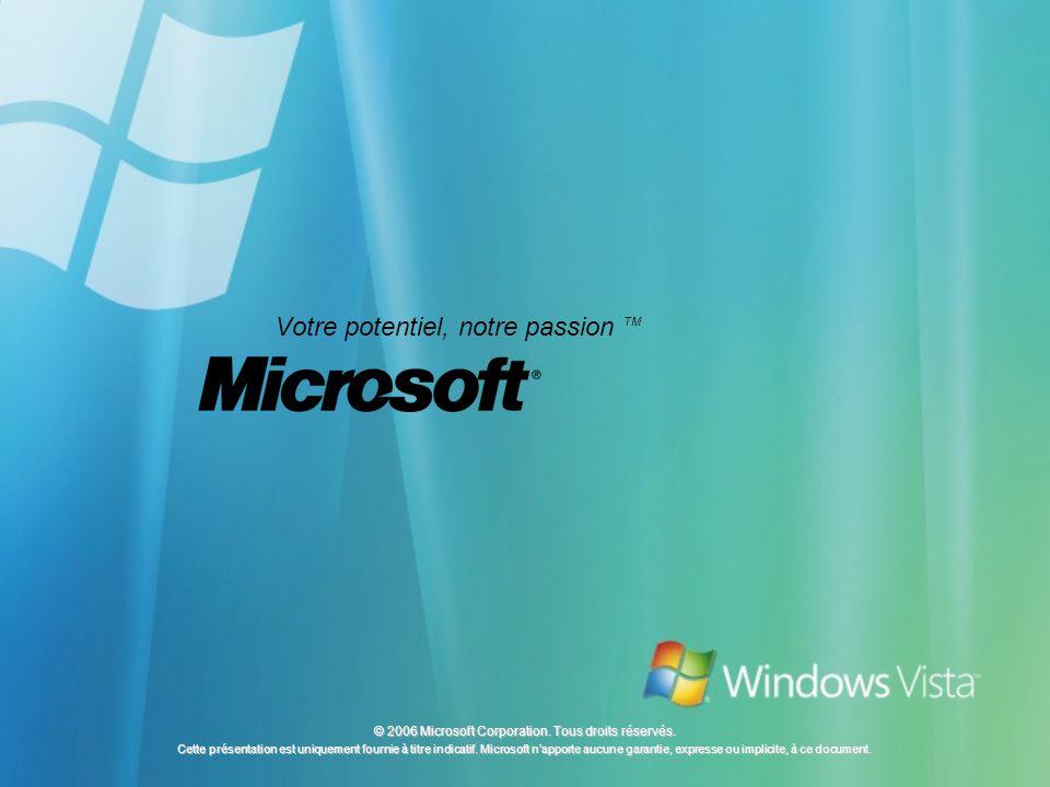 © 2006 Microsoft Corporation. Tous droits réservés. Cette présentation est uniquement fournie à titre indicatif. Microsoft napporte aucune garantie, e