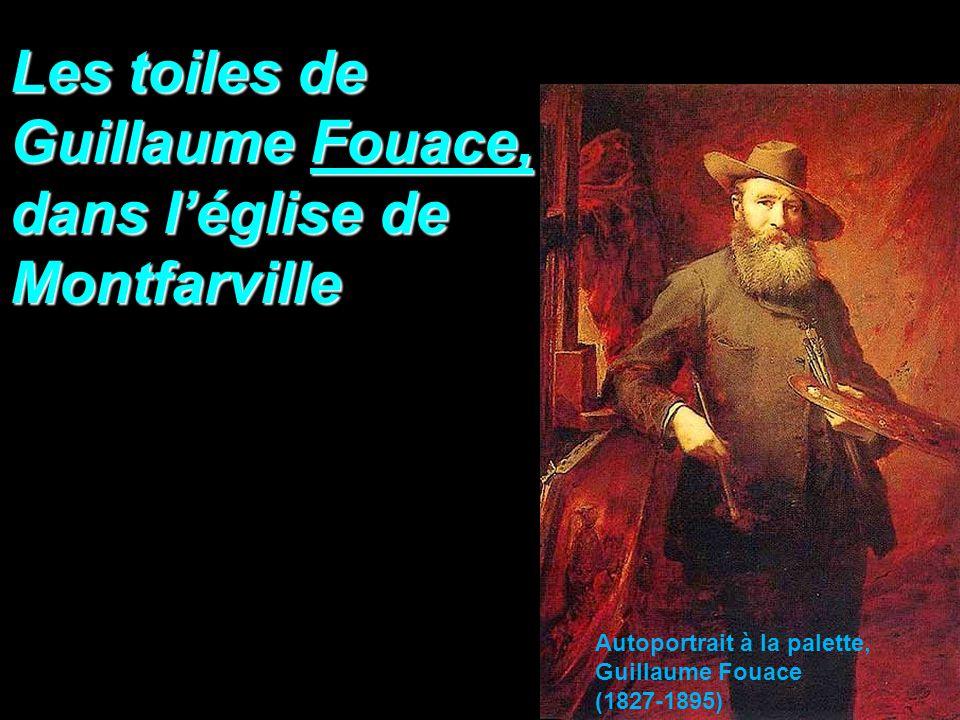 Les toiles de Guillaume Fouace, dans léglise de Montfarville Autoportrait à la palette, Guillaume Fouace (1827-1895)