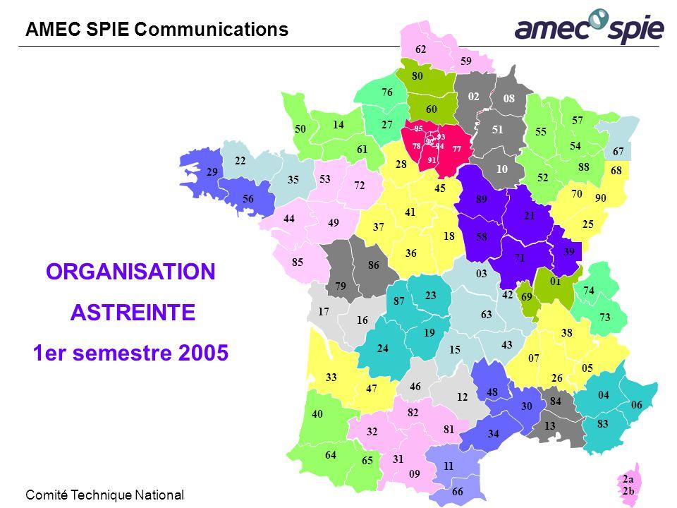 ORGANISATION ASTREINTE 1er semestre 2005 AMEC SPIE Communications Comité Technique National