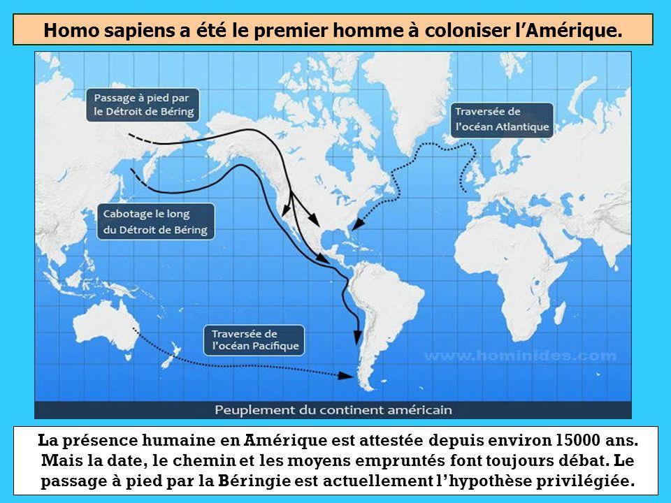 Homo habilisHomo ErectusHomo Sapiens Quel a été le premier homme à coloniser lAmérique ?