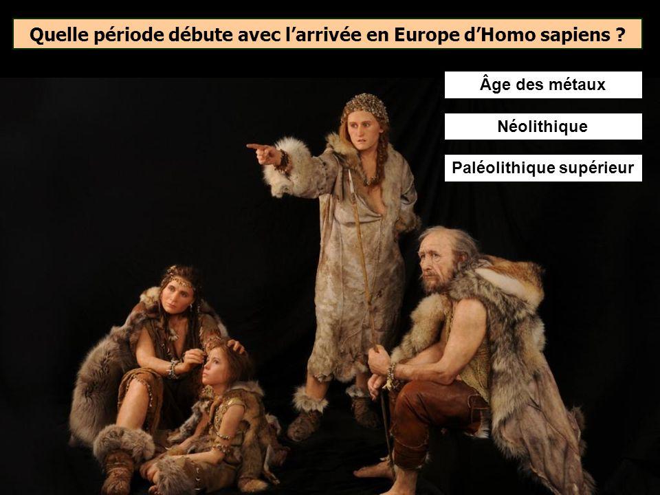 Homo sapiens est arrivé en en Europe occidentale il y a environ… La présence dHomo sapiens en Europe occidentale est attestée depuis au moins 35 000 a