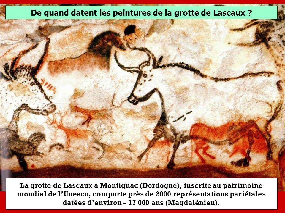 De quand datent les peintures de la grotte de Lascaux ? - 7 000 ans avant J-C.- 17 000 ans avant J-C.- 27 000 ans avant J-C.